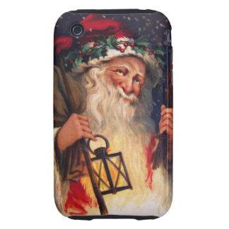 Navidad del padre con la linterna iPhone 3 tough protector