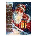 Navidad del padre de Papá Noel del vintage en el t