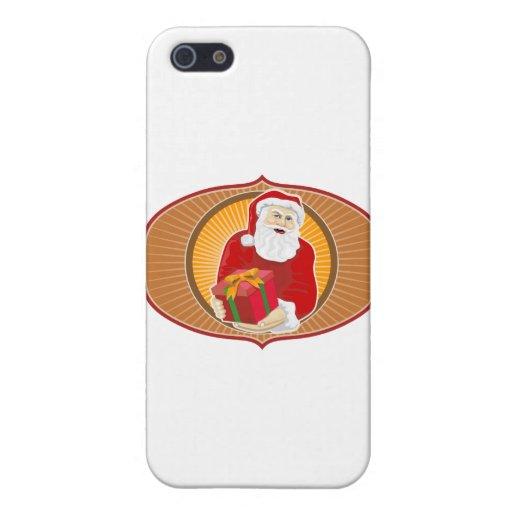 Navidad del padre de Papá Noel retro iPhone 5 Coberturas