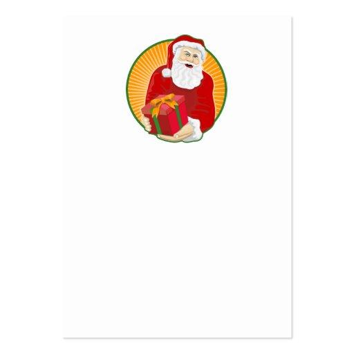 Navidad del padre de Papá Noel retro Tarjetas De Visita Grandes