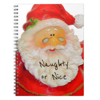Navidad del padre de Papá Noel travieso o Niza Libro De Apuntes