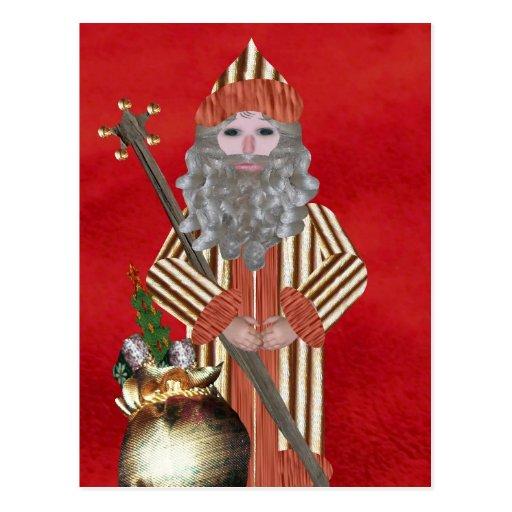 Navidad del padre del oro postales