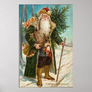 Navidad del padre del vintage impresiones