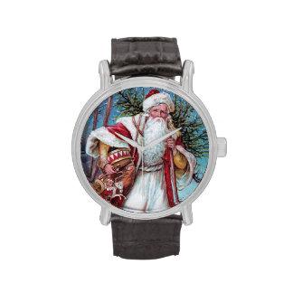 Navidad del padre del vintage relojes