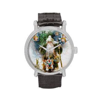 Navidad del padre del vintage reloj