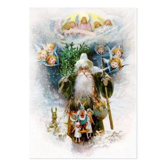 Navidad del padre del vintage plantillas de tarjeta de negocio