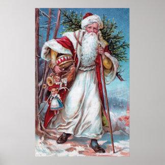 Navidad del padre en su manera póster