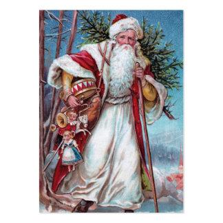 Navidad del padre en su manera plantilla de tarjeta de negocio