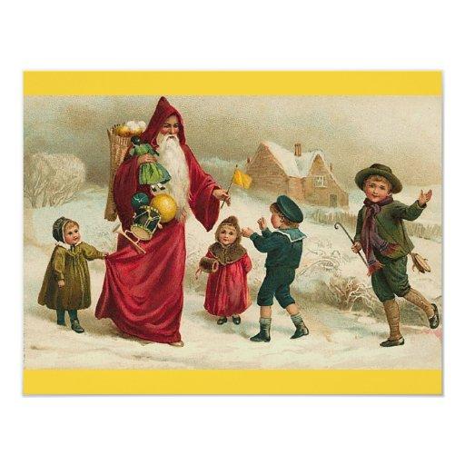 """Navidad del padre invitación 4.25"""" x 5.5"""""""