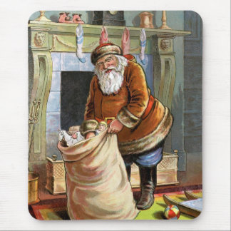 Navidad del padre mouse pads