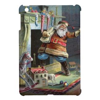 Navidad del padre que va para arriba la chimenea