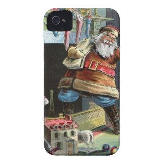 Navidad del padre que va para arriba la chimenea iPhone 4 Case-Mate protector