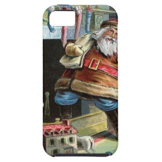 Navidad del padre que va para arriba la chimenea iPhone 5 fundas