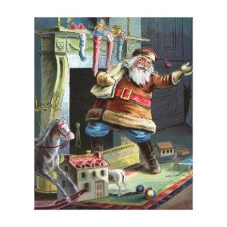 Navidad del padre que va para arriba la chimenea lona estirada galerías