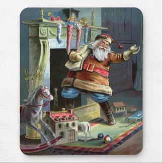 Navidad del padre que va para arriba la chimenea mousepad