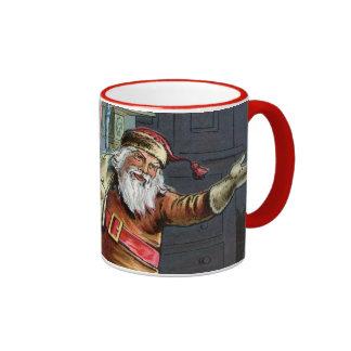 Navidad del padre que va para arriba la chimenea taza a dos colores