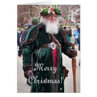 Navidad del padre tarjeta pequeña