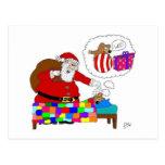 Navidad del padre y rata de Yabba Postales