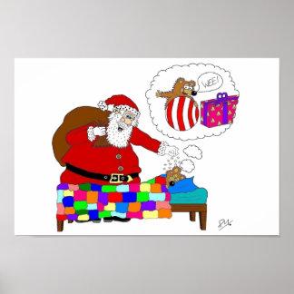 Navidad del padre y rata de Yabba Póster