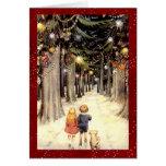 Navidad del país de las maravillas del invierno de felicitaciones