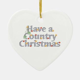 Navidad del país ornamentos de navidad