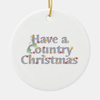 Navidad del país adorno para reyes