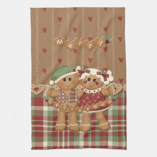 Navidad del país del pan de jengibre toalla