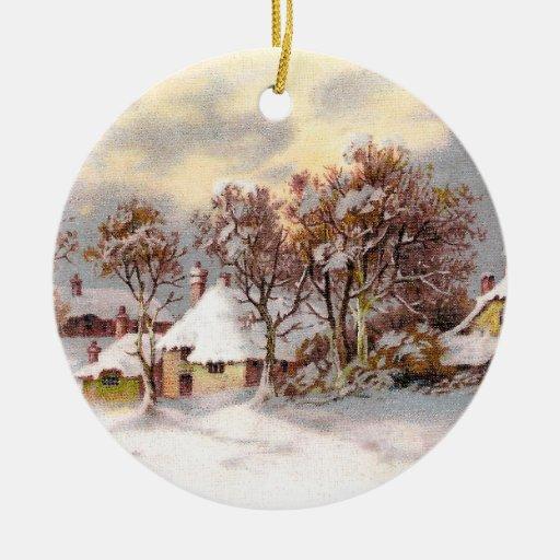 Navidad del país del vintage ornamento de navidad