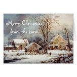 Navidad del país en la tarjeta del vintage de la g