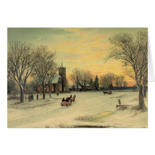 Navidad del país tarjeta de felicitación