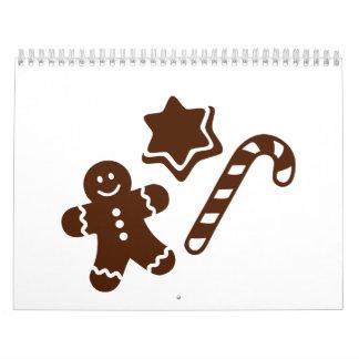 Navidad del pan de jengibre de Lebkuchen Calendarios