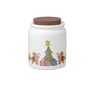 Navidad del pan de jengibre plato para caramelo