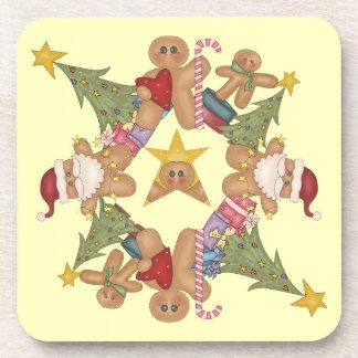 Navidad del pan de jengibre posavaso