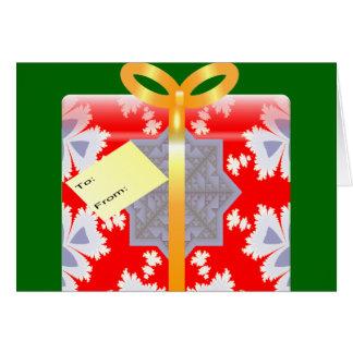 Navidad del papel de embalaje del fractal tarjeta de felicitación