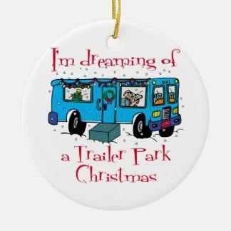 Navidad del parque de caravanas ornatos