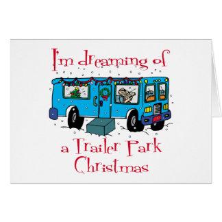 Navidad del parque de caravanas tarjeton