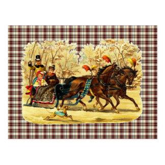 Navidad del paseo del trineo del Victorian Postal