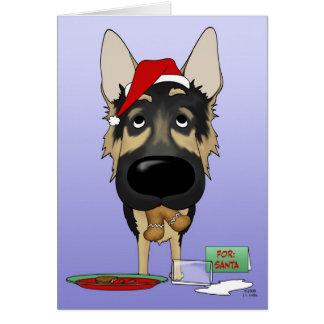 Navidad del pastor alemán tarjetas