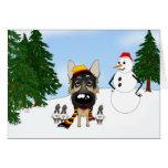 Navidad del pastor alemán tarjeton