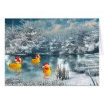 Navidad del pato tarjeta de felicitación