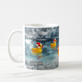Navidad del pato taza de café