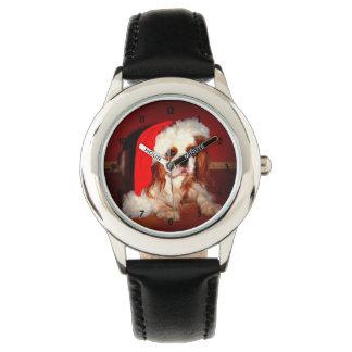 Navidad del perrito de los niños numerado relojes de pulsera