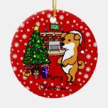 Navidad del perrito de Shiba Inu Ornatos