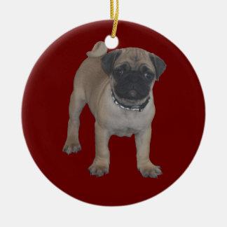 Navidad del perrito del barro amasado primer ornaments para arbol de navidad