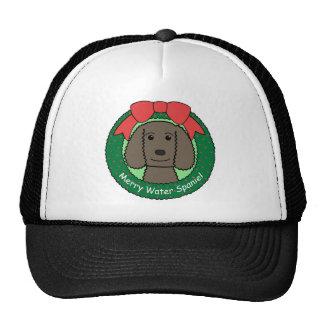 Navidad del perro de aguas de agua americana gorra
