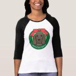 Navidad del perro de aguas de campo camiseta