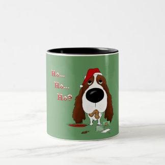 Navidad del perro de aguas de saltador inglés tazas