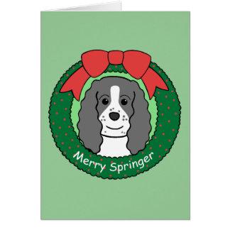 Navidad del perro de aguas de saltador inglés felicitaciones