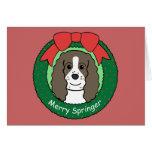 Navidad del perro de aguas de saltador inglés tarjeton