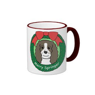 Navidad del perro de aguas de saltador inglés taza
